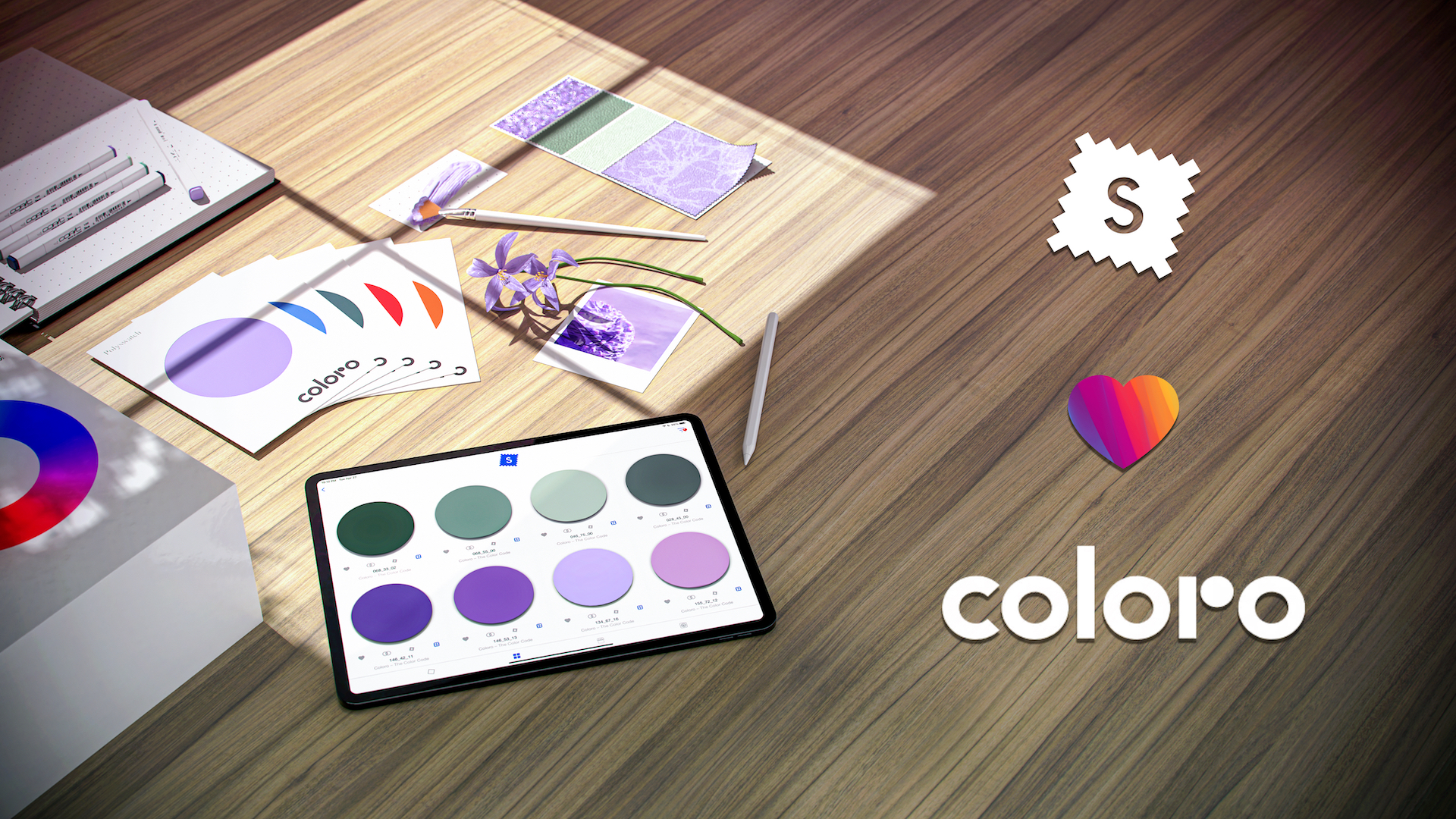 Coloro and swatchbook partner to combine color with material intelligence