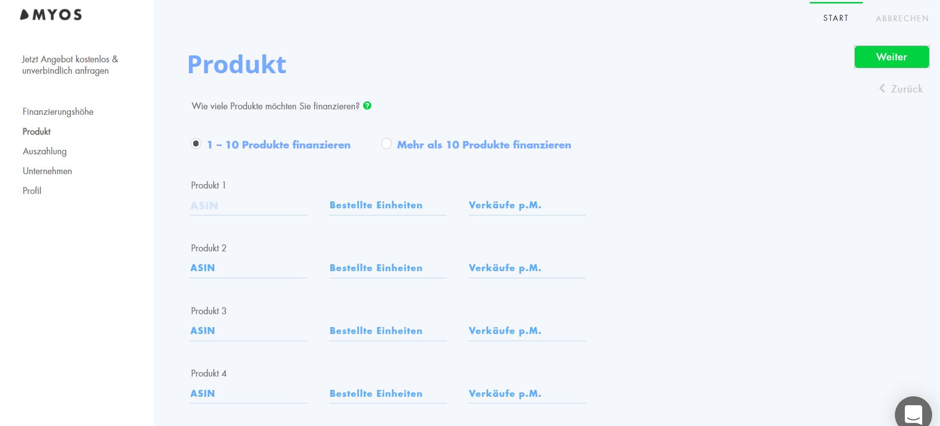 Myos App mit Übersicht von Produktbestellungen für Händler.