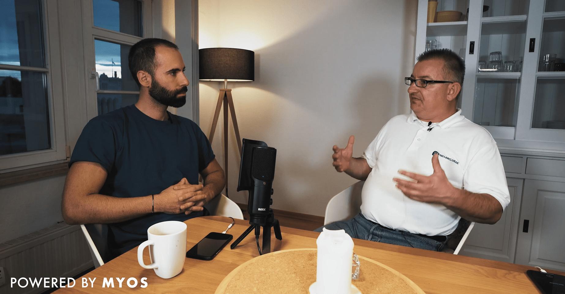 Andreas Frank und Adrian Jaroszynski unterhalten sich über Konzepte im E-Commerce.