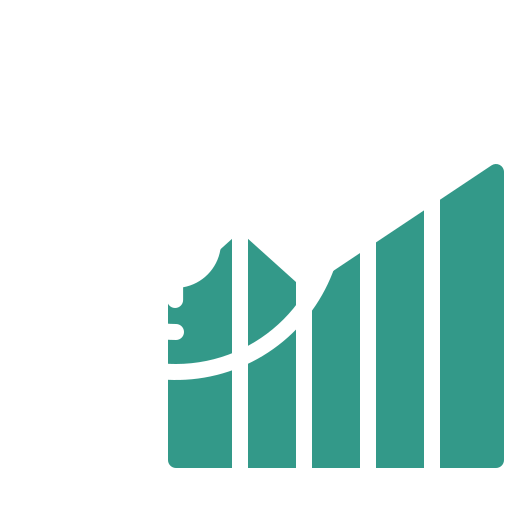 A diagram with a coin to illustrate financial services
