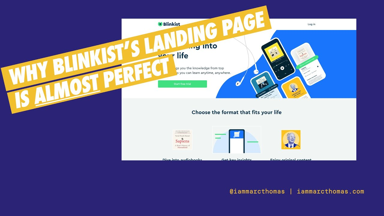 Why is Blinkist's landing page so good?