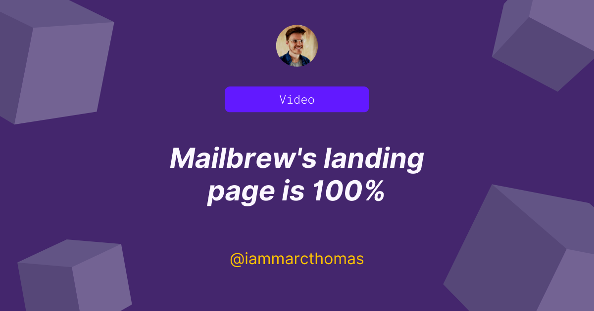 Mailbrew's landing page is so effective, people are asking how it knows who they follow