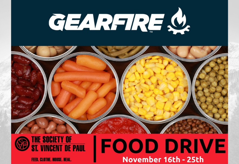 Gearfire Teams With 102.5 KNIX For Million Meal Crusade Food Drive