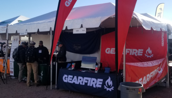 gearfire booth at shot show range day