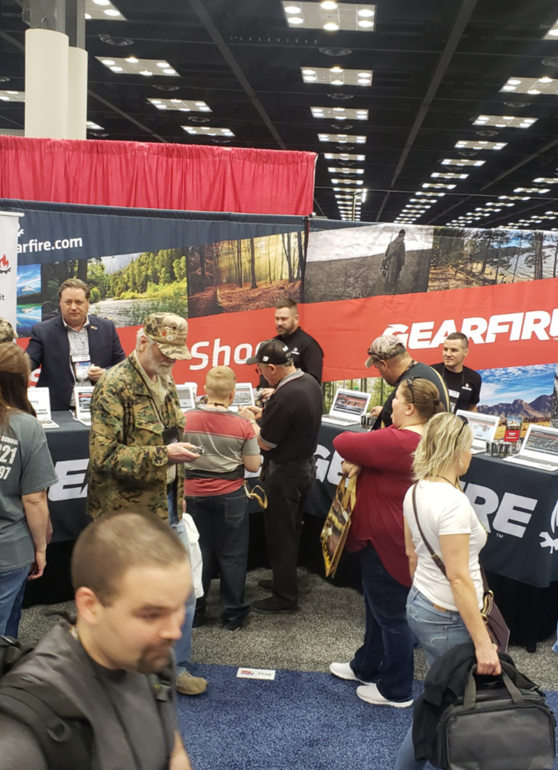 Gearfire booth at shot show