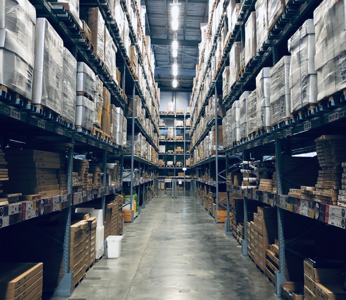 picture of warehouse shelves