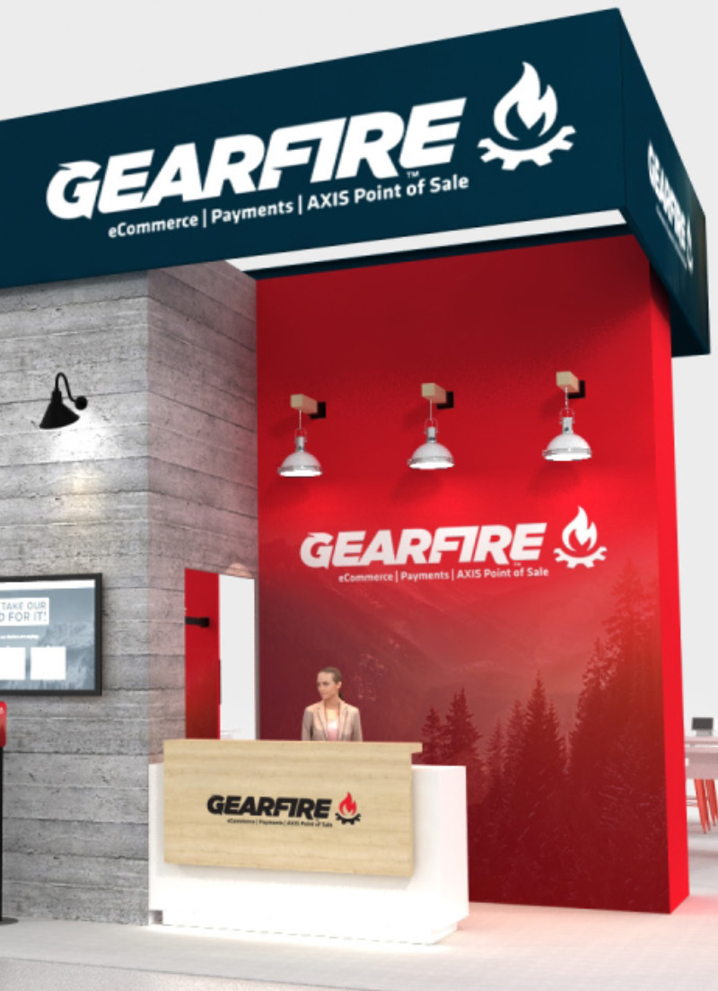 gearfire shot show 2022 booth render