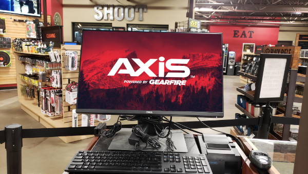 photo of axis point of sale inside of a store