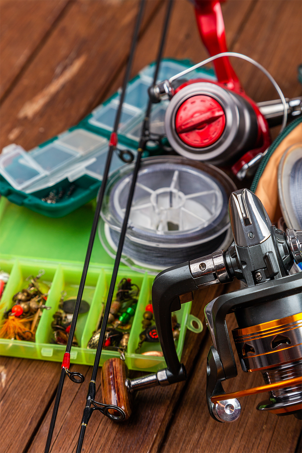 fishing reels and bait