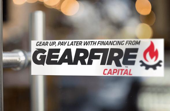 Gearfire Capital window cling