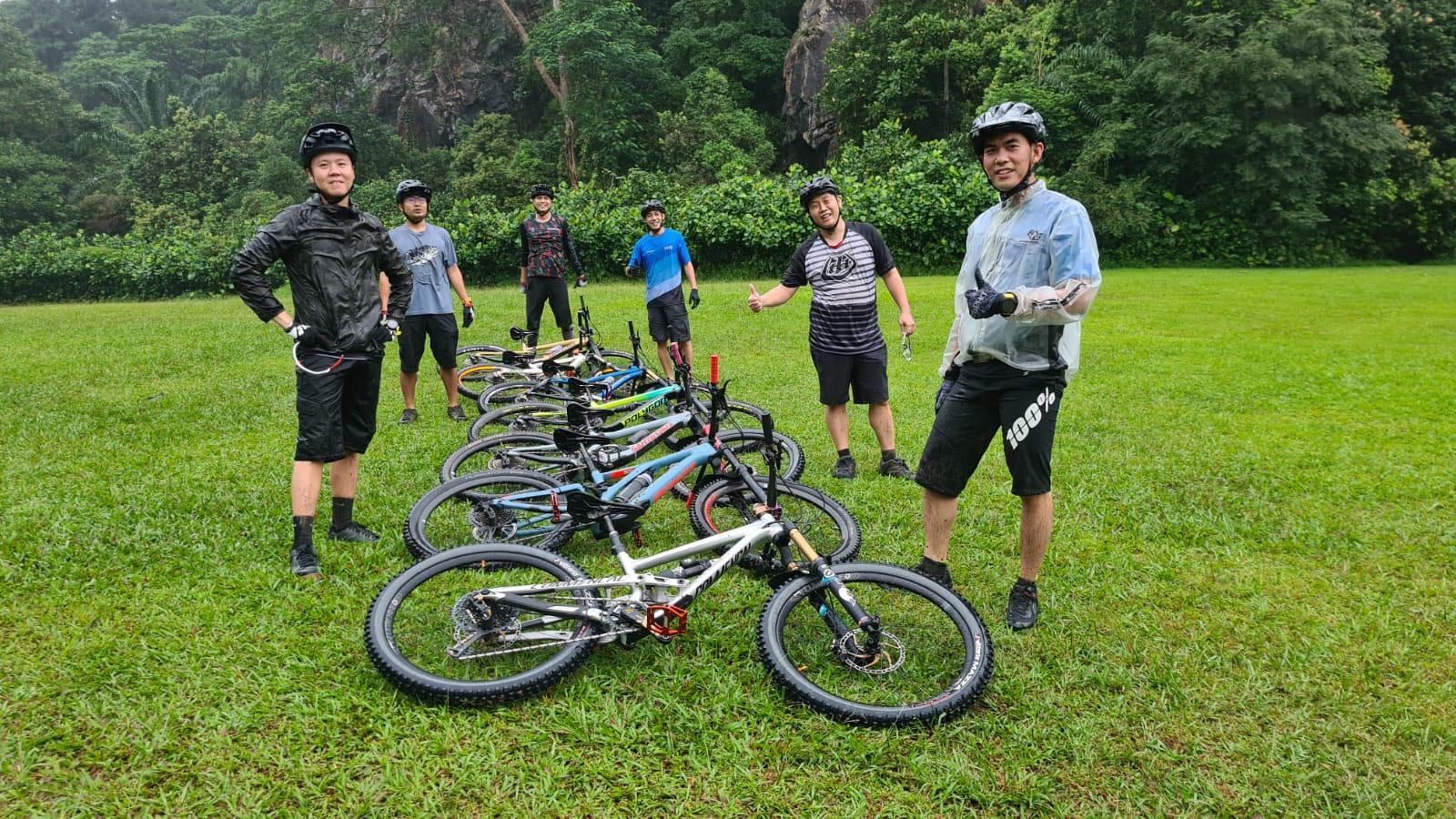 Kelvin organizes regular rides to Bukit Timah Nature Reserve