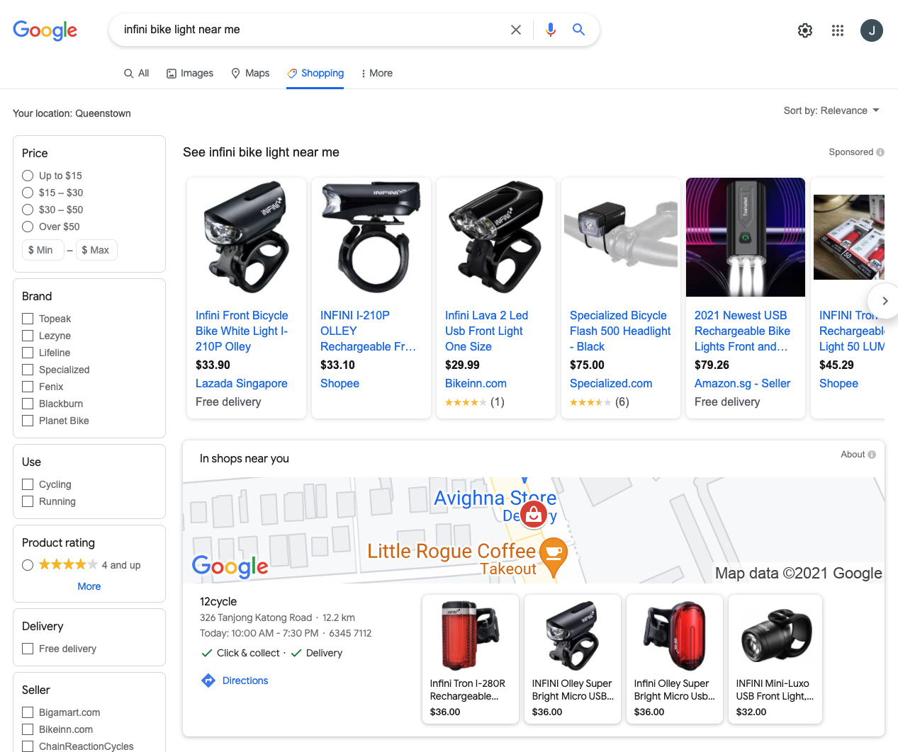 Google Shopping local inventory listings