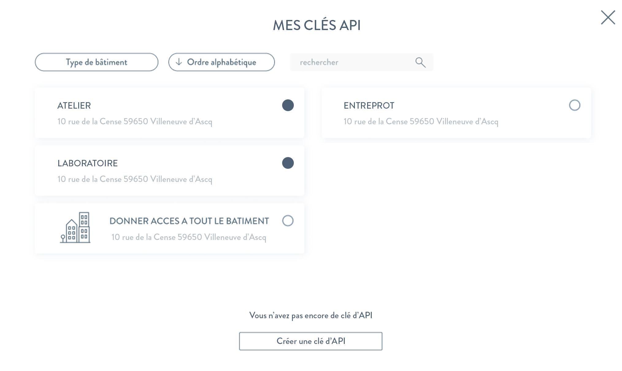 Vue d'une fonctionnalité de l'application CozyConnect pour gestionnaires