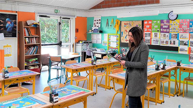 Intervention de notre équipe dans une classe d'une école primaire