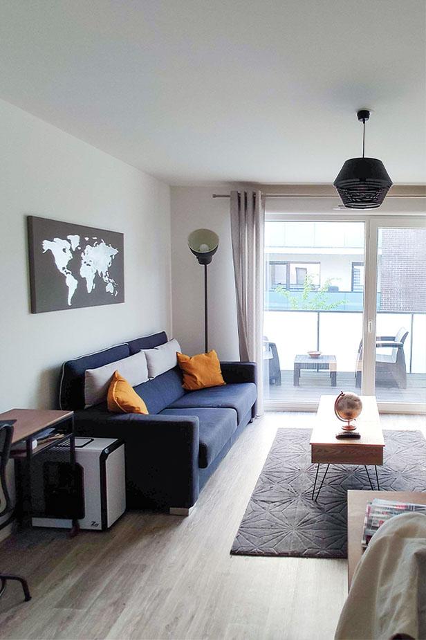 Salon d'un logement particulier