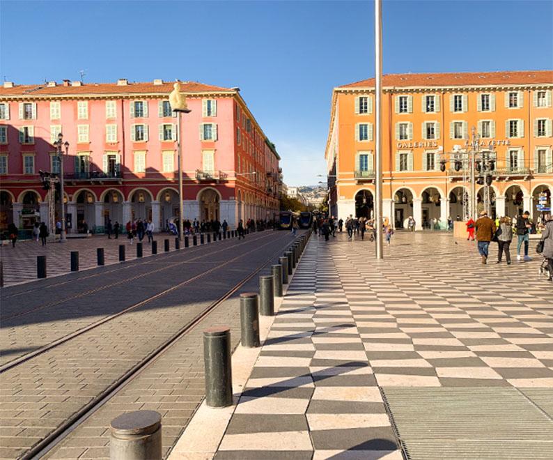 Place Masséna du centre-ville de Nice
