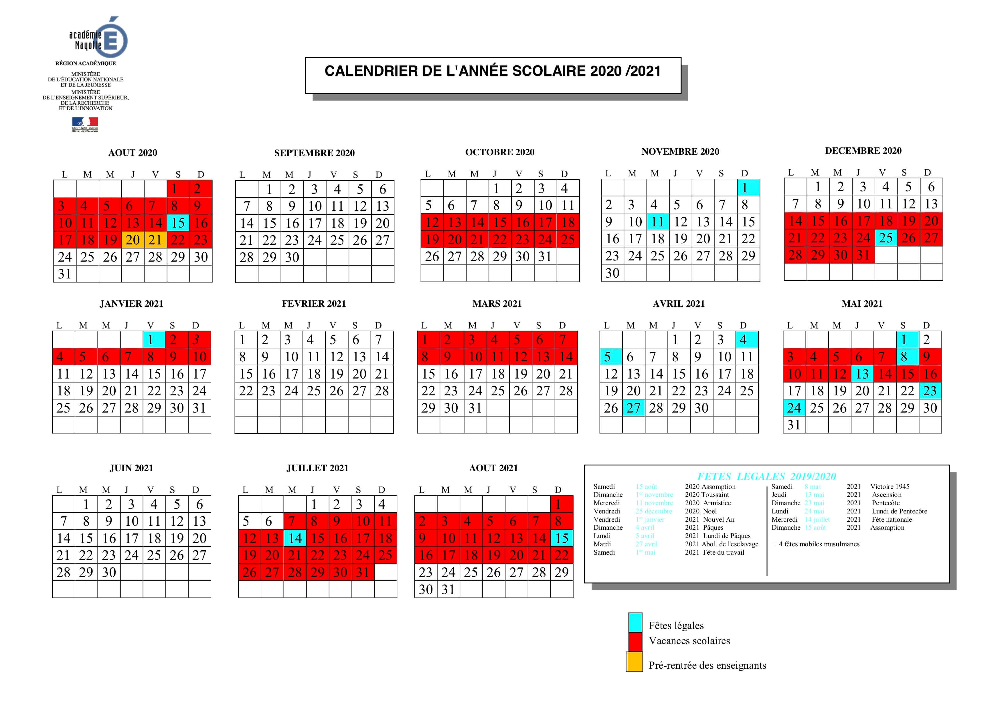 Calendrier scolaire 2020 2021 : 36 semaines de cours, pas 37