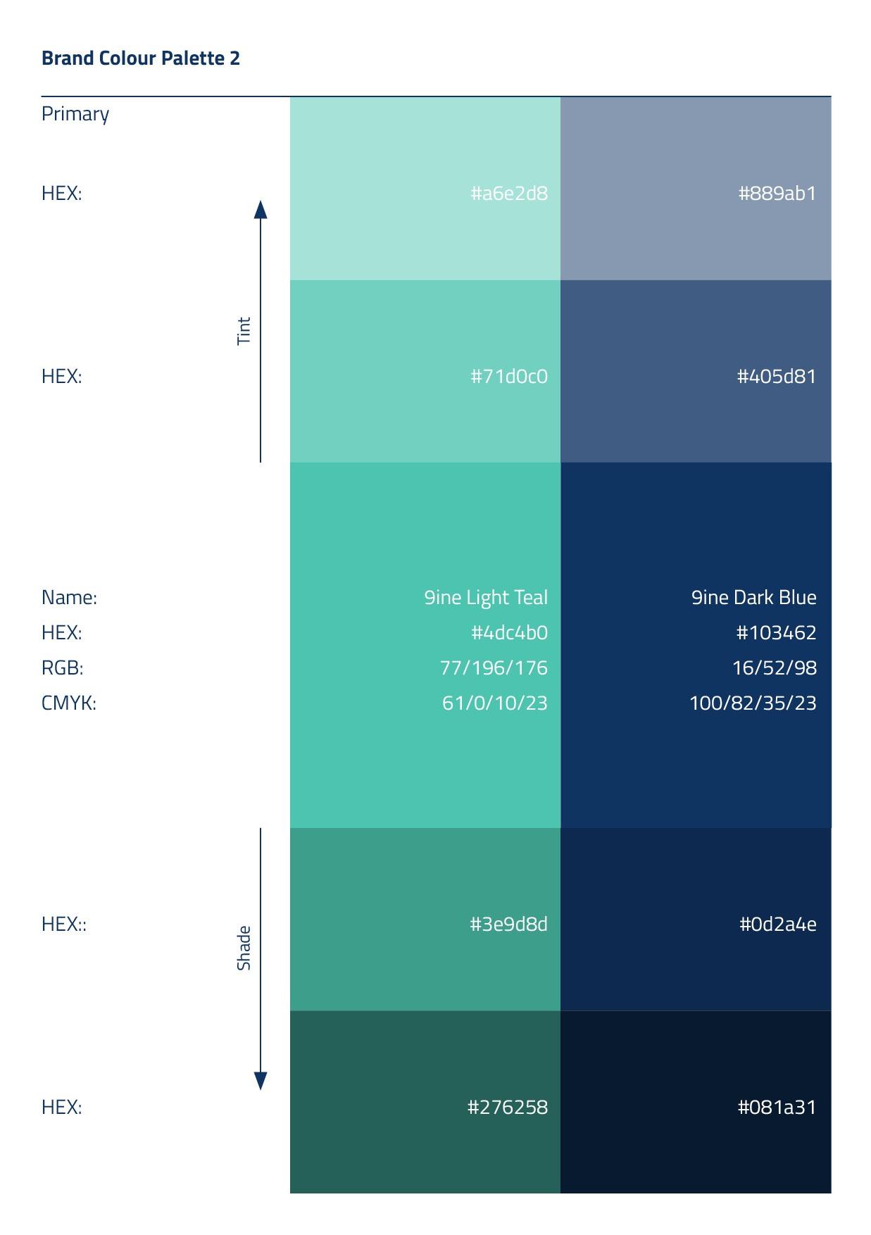Branding Guidelines Colour