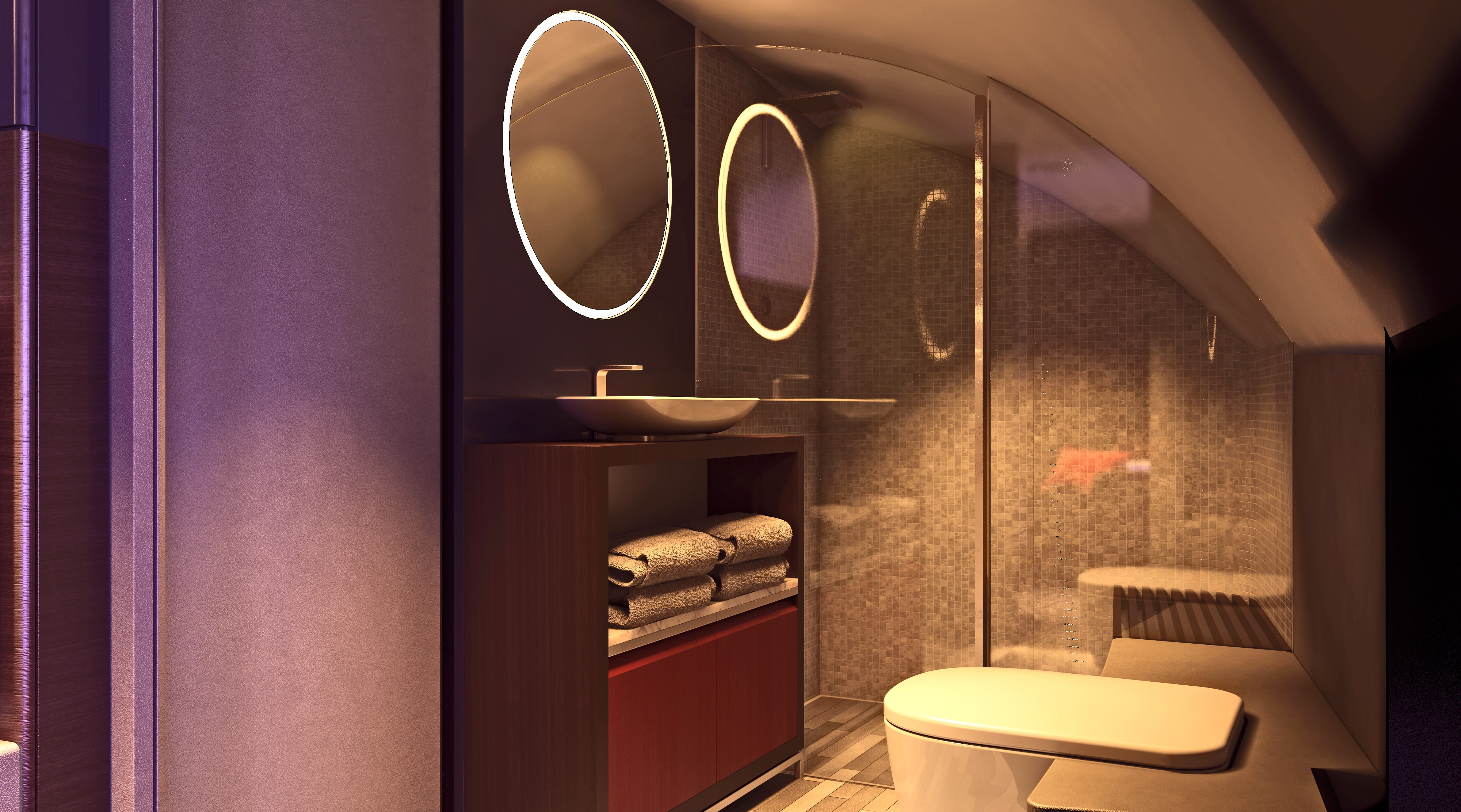 Singapore Airlines First Class Suite Bathroom
