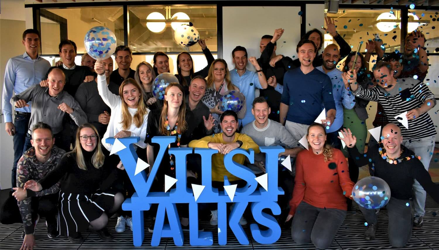 Picture of the Viisi team full of smiles