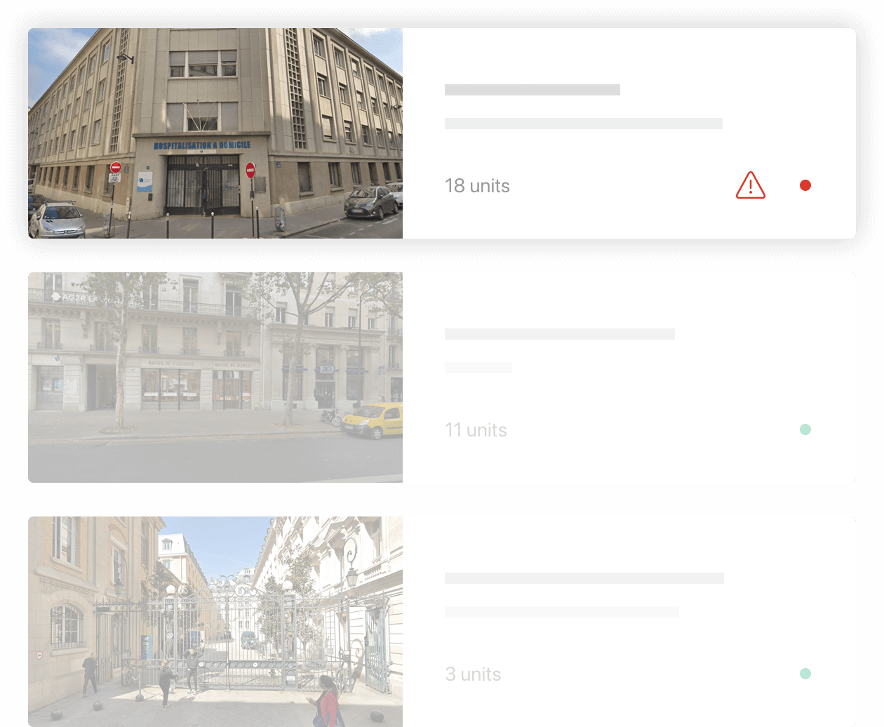 Live informations about you buildings