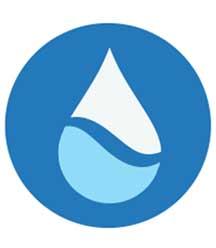 The Plecos water drop logo.