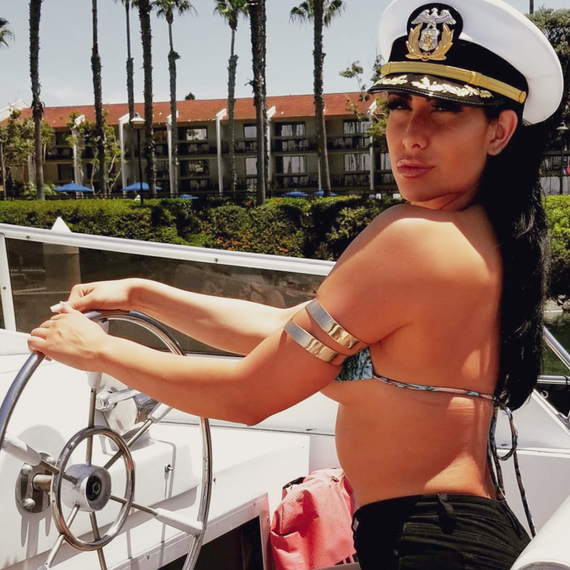 Girl captain on Bella Luna Yacht in San Diego