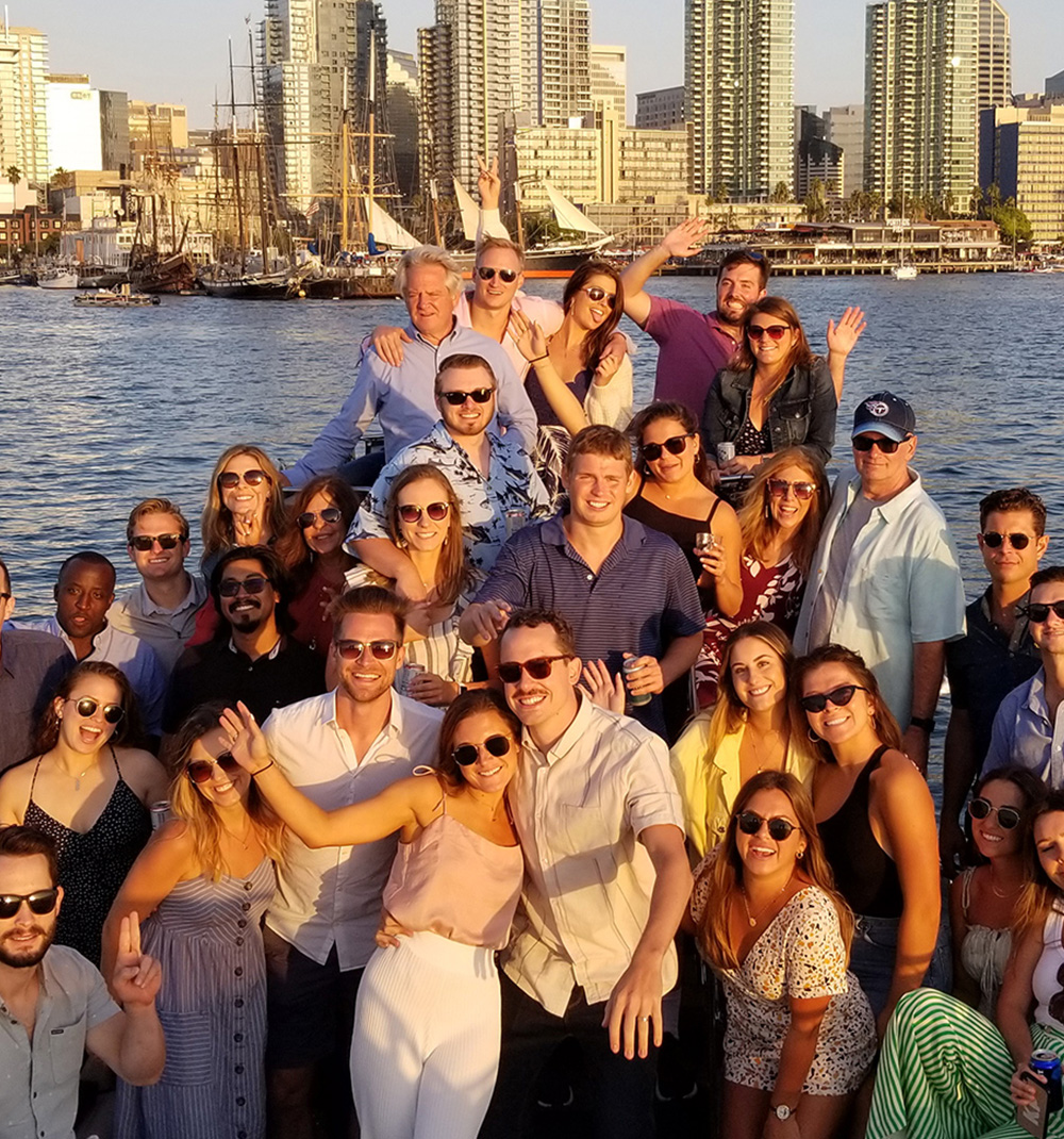 Bella Luna Charter group having fun on the San Diego Bay