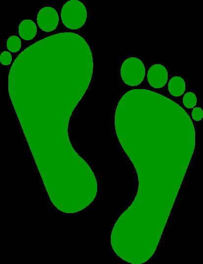 Symbol Füße als Fußabdruck