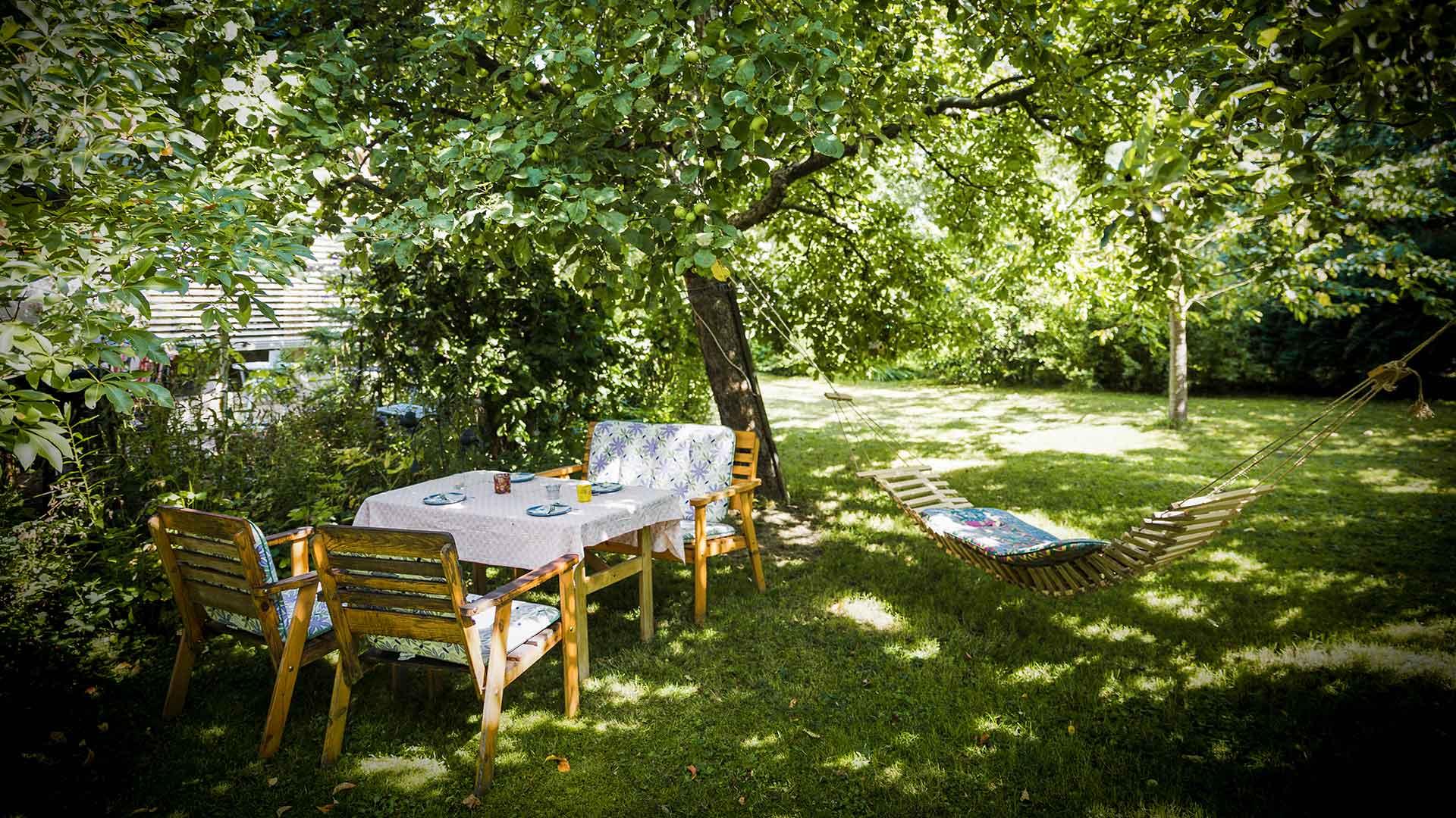 Essbereich im Garten
