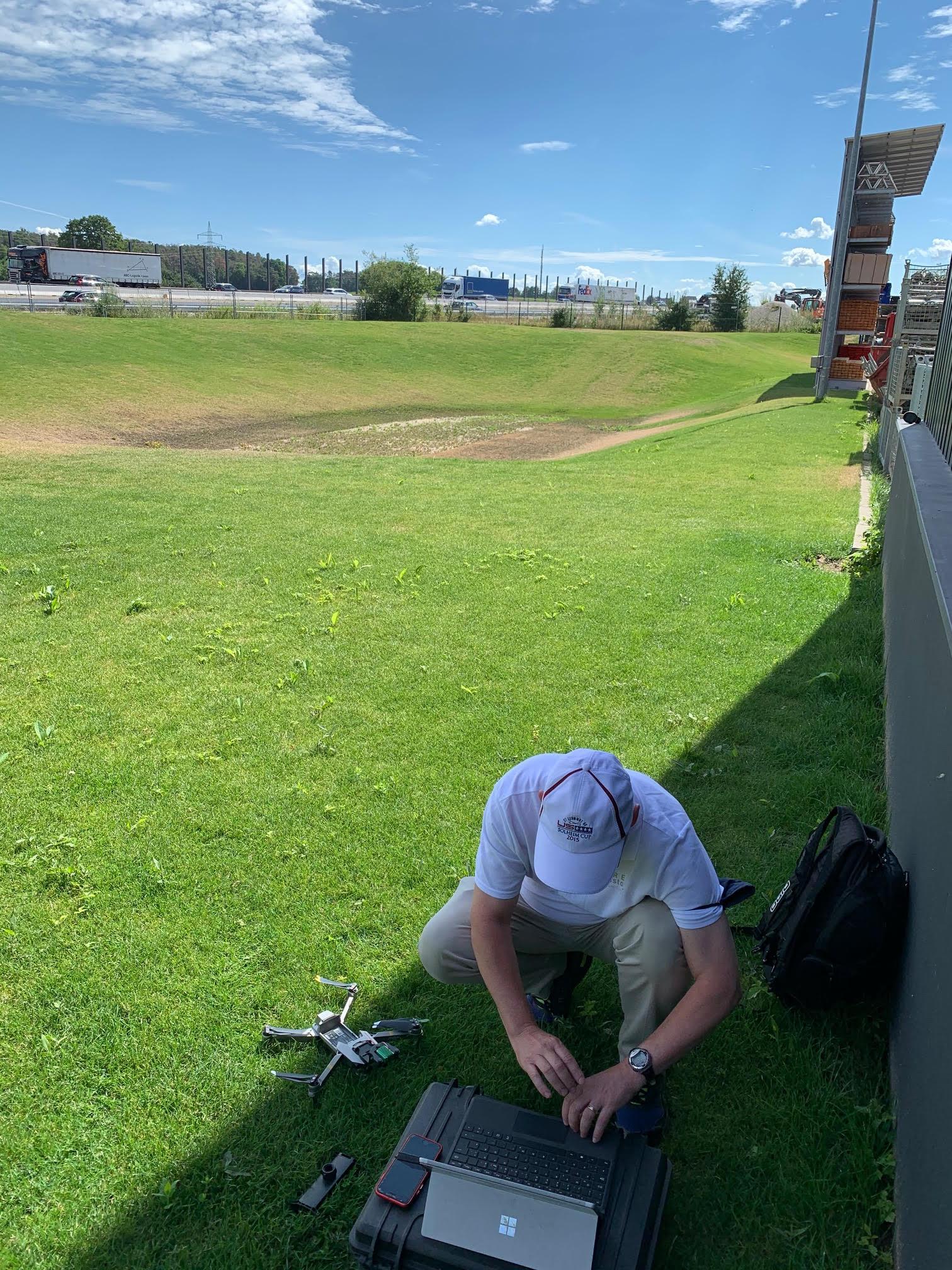 Rasenanalyse mit Drohne