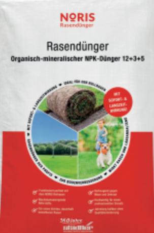 Noris Rasendünger Organisch Mineralisch 25kg Sack
