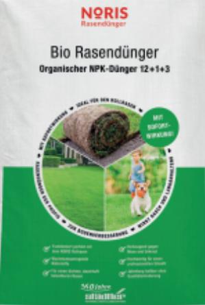 Bio Rasendünger Noris Bio Mineralisch Sack 25kg