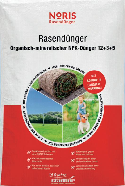 Noris Rasendünger 25kg Sack Organisch Mineralisch