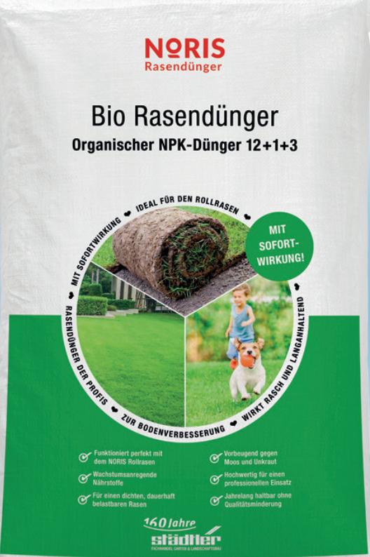 Bio Noris Rasendünger 25kg Sack Organisch Mineralisch