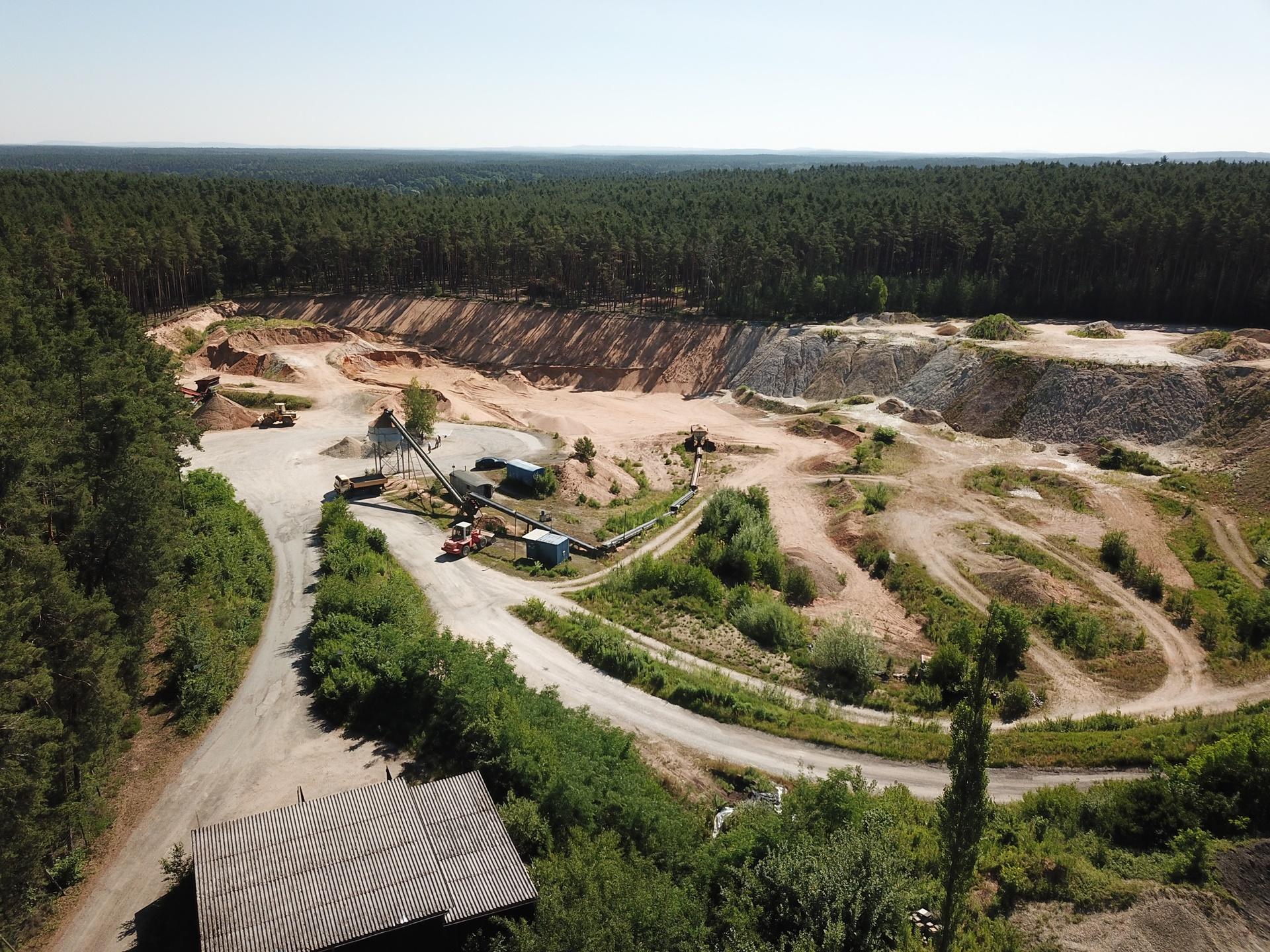 Noris Erden Substrate Sandgrube Kammerstein Luftaufnahme