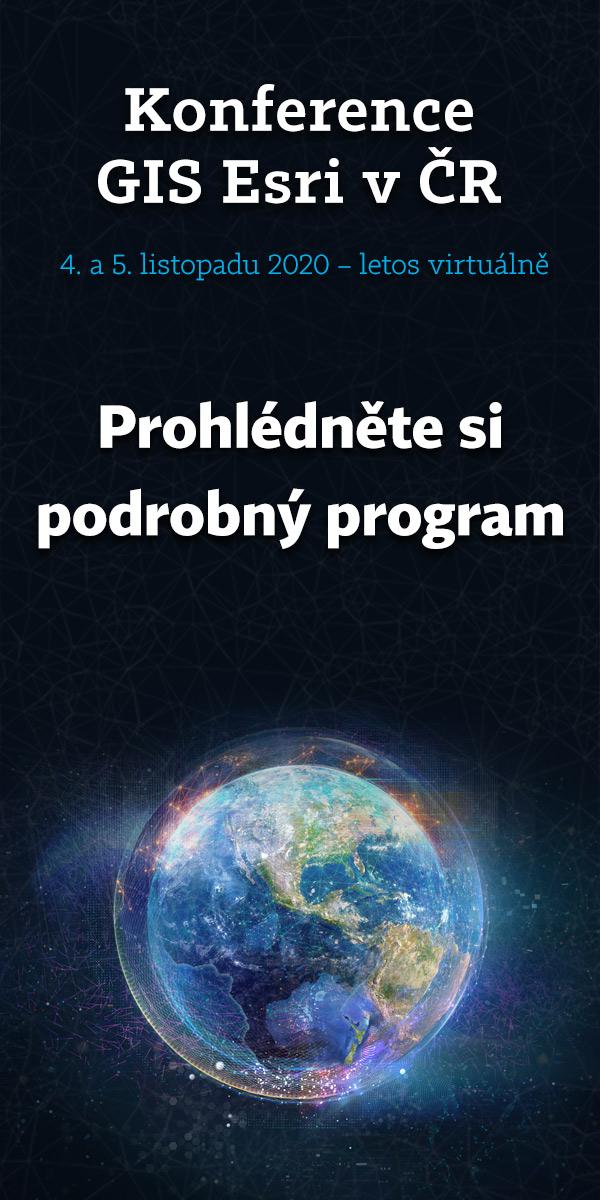 Konference GIS Esri v ČR 2020 - Přihlášky přednášek se blíží