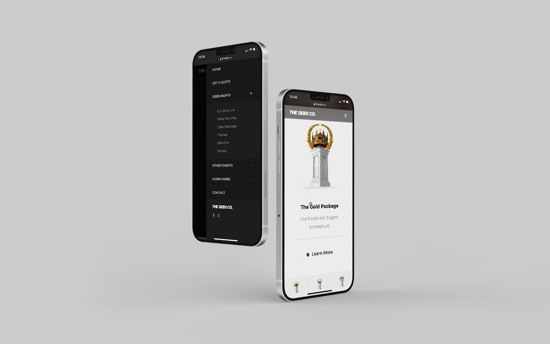 The Debs Co Web Design Mobile