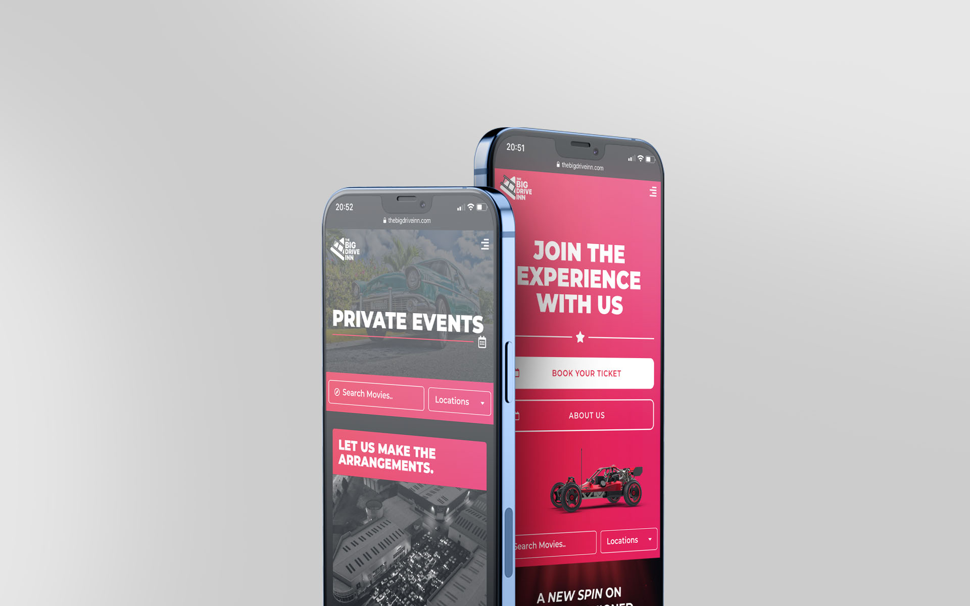 The Big Drive-Inn Mobile Mockup