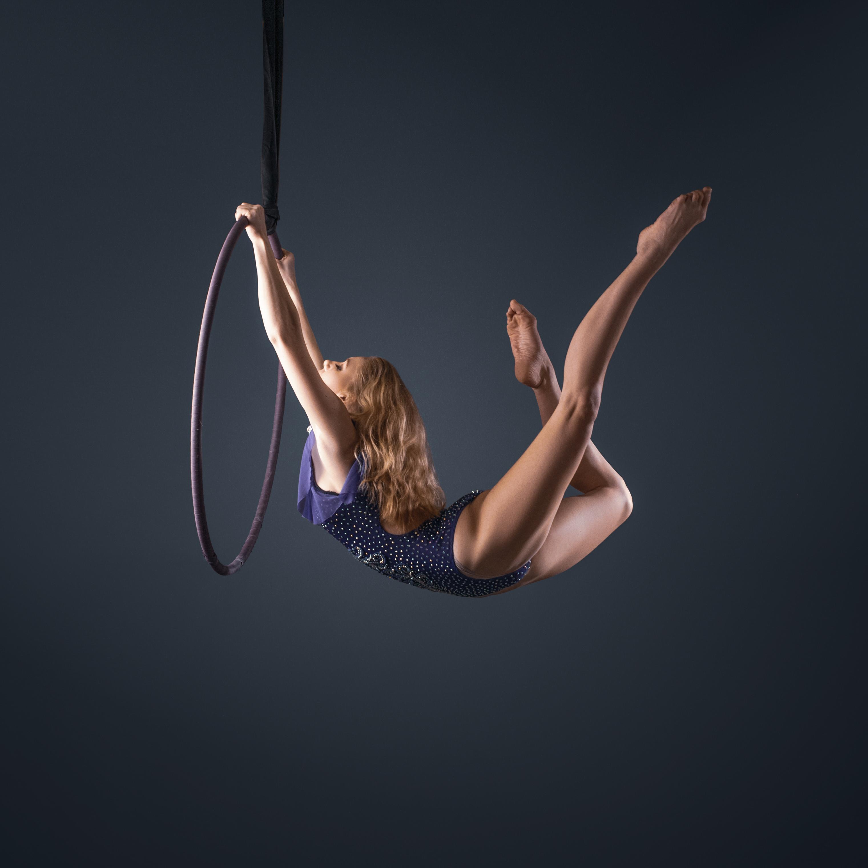 Aerial hoop photograph