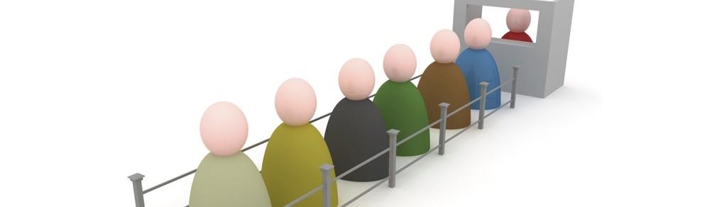diminuição da taxa de abandono da fila de atendimento