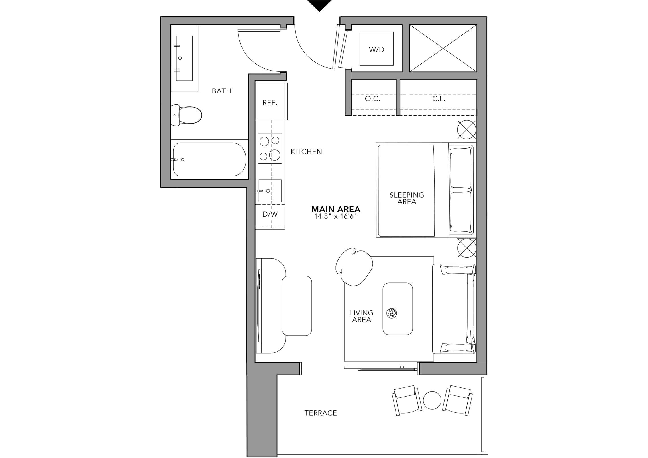 Type 10 Studio (Floor 24-47)