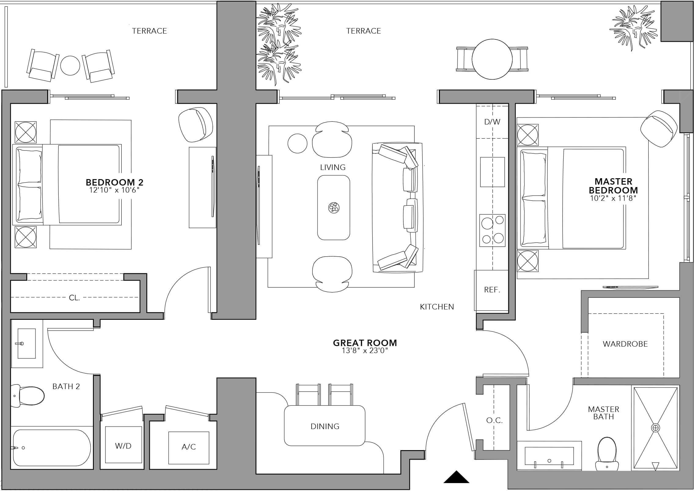 Type 1 (Floor 24-47)