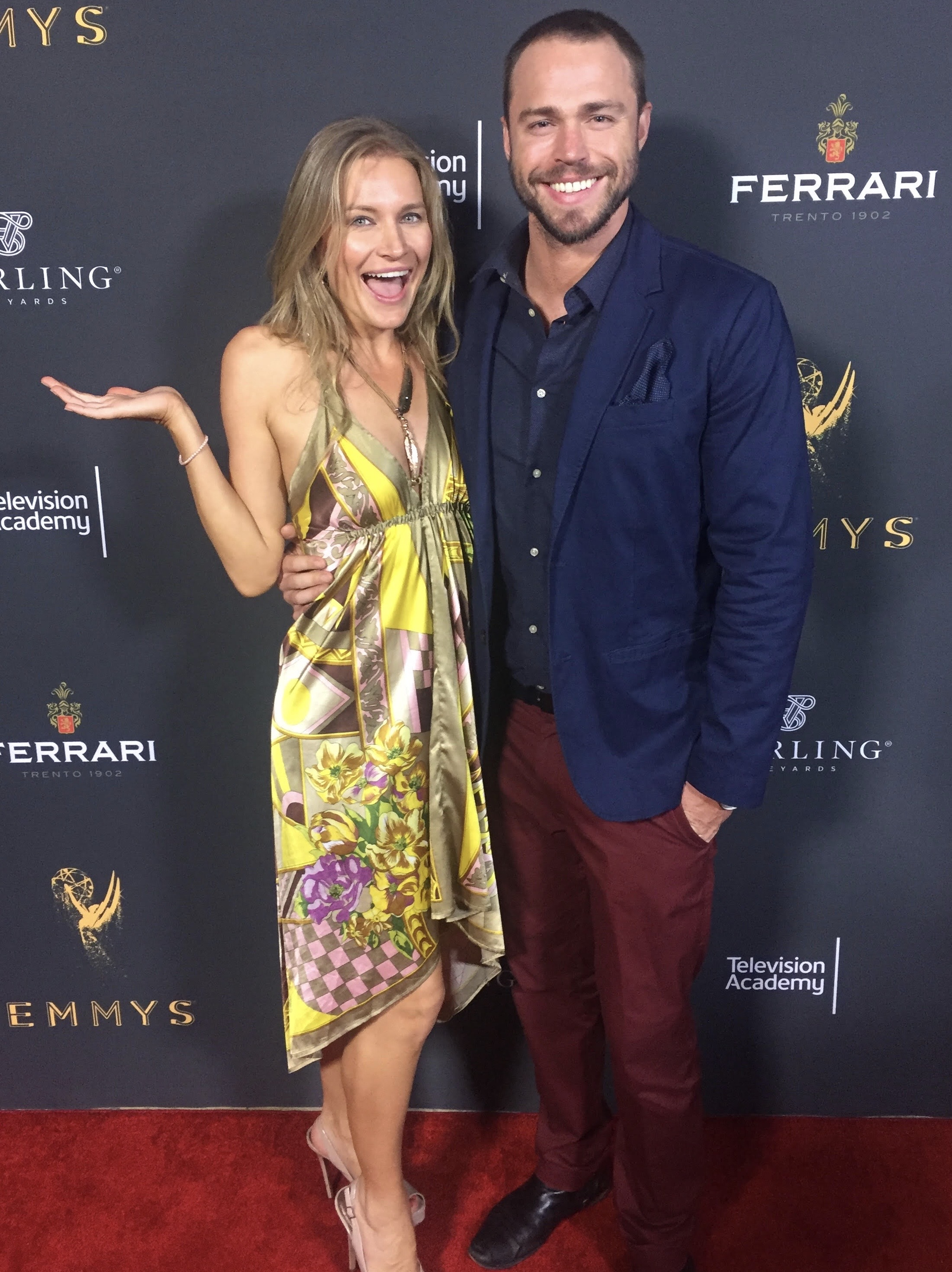 Kym Jackson & Andrew Steel at the Emmys