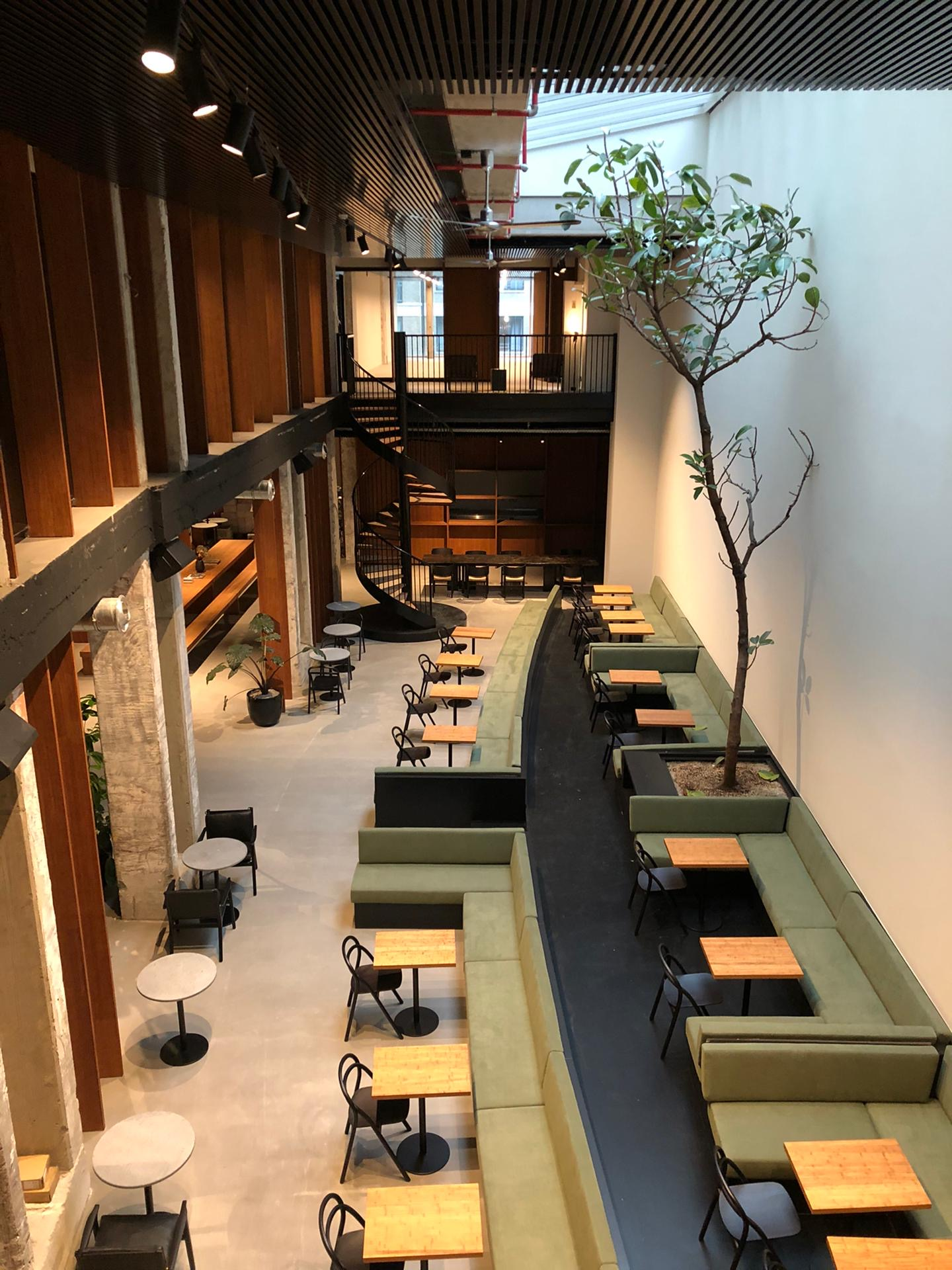 midori hub, a midori lunch location, in Fosbury and Sons Albert in Brussels