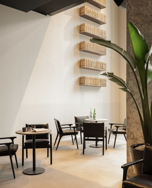 Chairs and tables, at Midori hub Albert, place to work or eat lunch at Fosbury and sons Albert