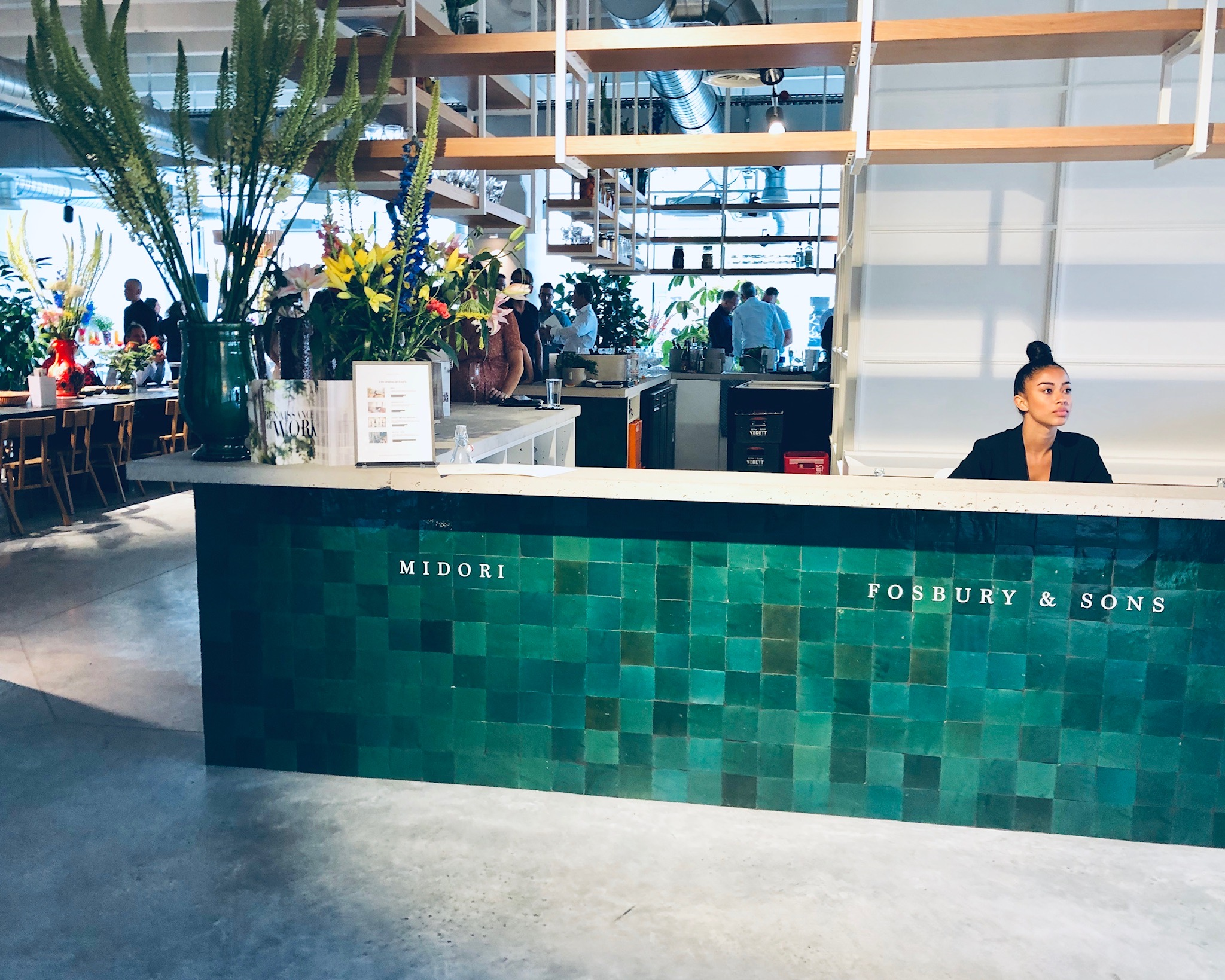 front desk, of midori, hub Alfons lunch location, at Fosbury and sons in Brussels,