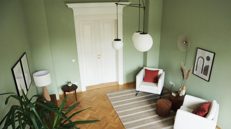 Einrichtung Green Room