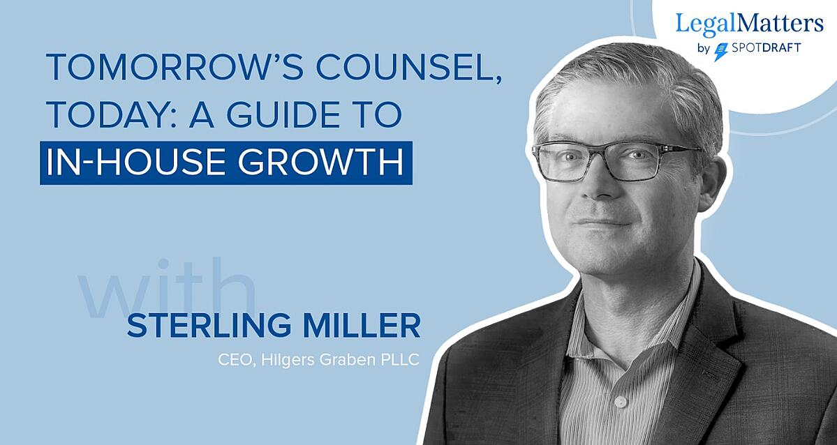 SpotDraft guide to success for  in-house lawyers with Sterling Miller