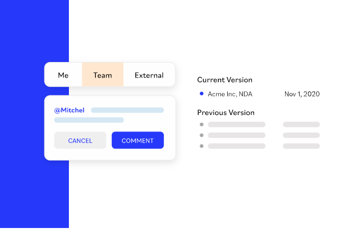 Contract collaboration and comments on SpotDraft